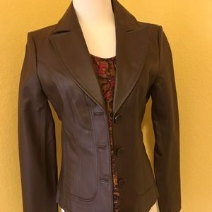 Guess genuine leather jacket